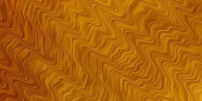 textura de vetor amarelo escuro com curvas.