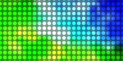 modelo de vetor azul e verde claro com círculos.