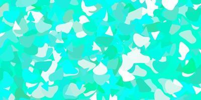 textura de vetor verde claro com formas de memphis.