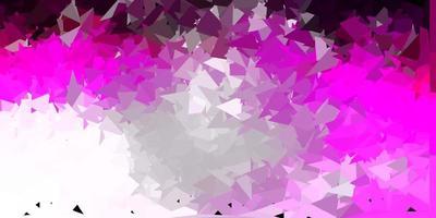desenho de polígono gradiente de vetor rosa claro.