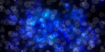 modelo de vetor azul escuro com círculos.