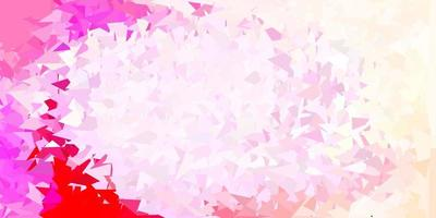 papel de parede poligonal geométrico de vetor rosa claro.