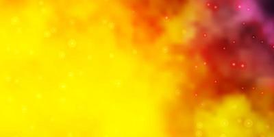 rosa claro, padrão de vetor amarelo com estrelas abstratas