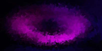 desenho poligonal geométrico vector rosa escuro.