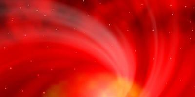 fundo vector laranja escuro com estrelas coloridas.