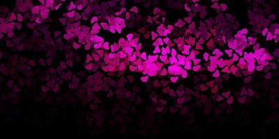textura vetorial rosa escuro com formas de memphis vetor
