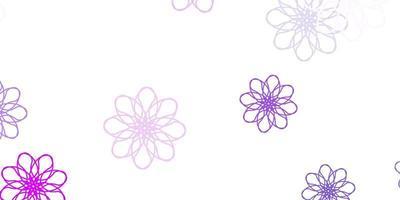 arte natural do vetor roxo claro com flores.