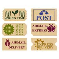 Selos postais da primavera vetor
