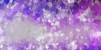 textura de triângulo abstrato de vetor roxo claro.