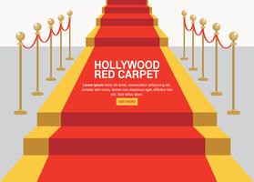 Tapete Vermelho Hollywood vetor