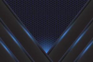 fundo de luz azul moderno e papel de parede vetor