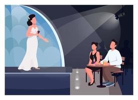 casal assistir ilustração vetorial de cores planas vetor