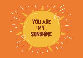 Você é meu raio de sol vetor