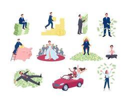 pessoas ricas e bem-sucedidas definidas vetor