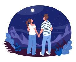 banner da web de vetor 2d de observação das estrelas, pôster