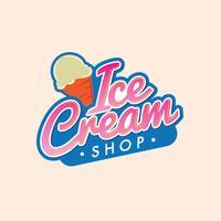 Logotipo moderno de sorvete vetor