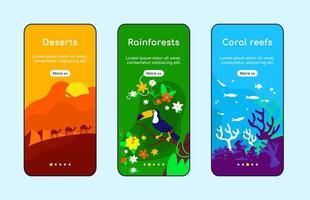 tela do aplicativo de integração de zonas climáticas vetor