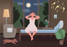 ilustração em vetor cor lisa vizinhos barulhentos