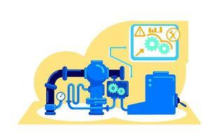 ilustração em vetor conceito plano de máquinas