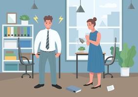 ilustração em vetor cor lisa violência doméstica