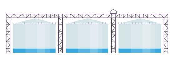 ilustração em vetor desenho animado reservatórios industriais