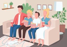 ilustração em vetor cor plana entretenimento familiar