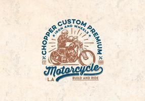 Vector de motocicleta Premiun personalizado
