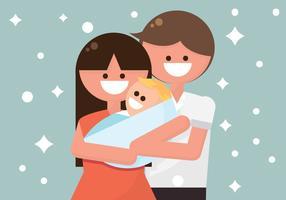 Retratos familiares bonitos vetor