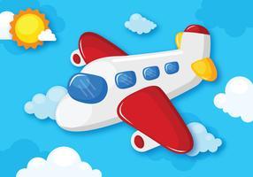 Avião Flying Cartoon vetor