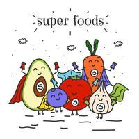 vetor de super alimentos
