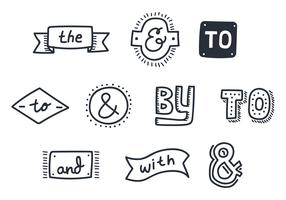 Doodle vintage do Ampersand vetor