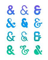 Conjunto De Logotipo Ampersand vetor