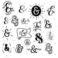 Vetor de ampersands