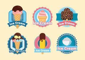 conjunto de logotipos de sorvete vetor