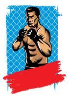 esporte de combate final vetor