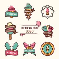 logotipo da loja de sorvete vetor