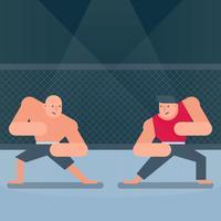 Dois lutadores de artes marciais misturadas jogo ilustração
