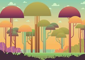 Floresta abstrata colorida