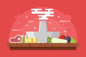Vetores Hotpot e Ingredientes