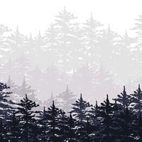 Ilustração florestal abstrata vetor