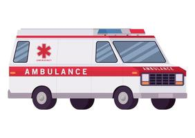 projeto de vetor de vista lateral de carro paramédico de ambulância