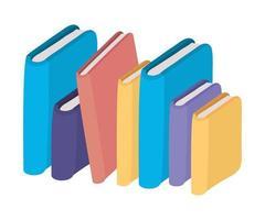 desenho vetorial de livros educacionais isolados vetor