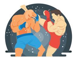 ilustração final da luta vetor