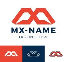 excelente profissional elegante na moda incrível esporte artístico m mx xm logotipo do ícone do alfabeto com base inicial. vetor