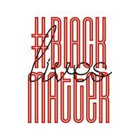 vidas negras são importantes. banner de protesto sobre os direitos humanos dos negros na América. ilustração vetorial.