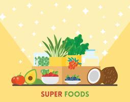 Ilustração Super Foods vetor