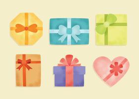 Presentes embrulhados e vetor de presentes