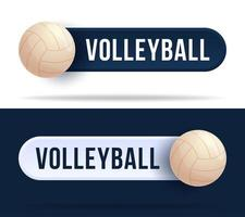 botões de alternância de voleibol. vetor