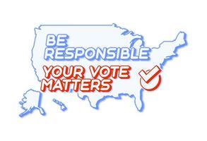 seu voto é importante para 2020 para as eleições primárias dos estados unidos da américa nos eua em novembro para candidatos democráticos ou republicanos. vetor