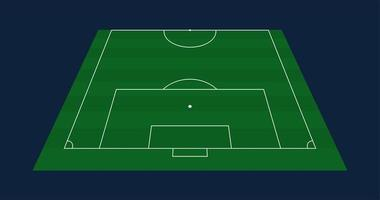 meia grama verde vetor futebol ou fundo de campo de futebol. ilustração vetorial de estoque de um campo de futebol com perspectiva frontal